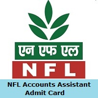 NFL Accounts Assistant Admit Card