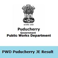 PWD Puducherry JE Result