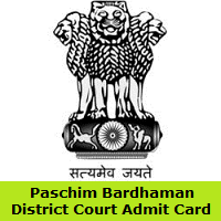 Paschim Bardhaman District Court Admit Card