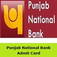 Punjab National Bank Admit Card