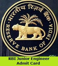 RBI Junior Engineer Admit Card