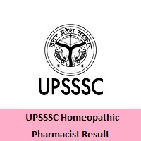 UPSSSC Homeopathic Pharmacist Result