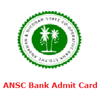 ANSC Bank Admit Card