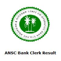 ANSC Bank Clerk Result