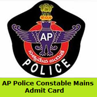 AP Police Constable Mains Admit Card