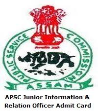 APSC Junior Information & Relation Officer Admit Card