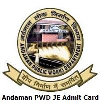 Andaman PWD JE Admit Card