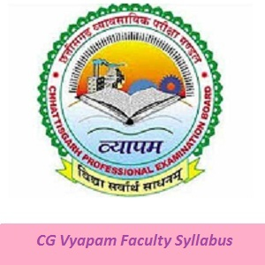 CG Vyapam Faculty Syllabus