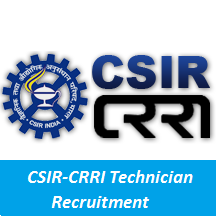 CSIR-CRRI Technician Recruitment