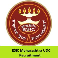 ESIC Maharashtra UDC Recruitment