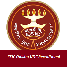 ESIC Odisha UDC Recruitment
