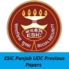 ESIC Punjab UDC Previous Papers