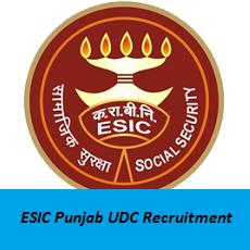 ESIC Punjab UDC Recruitment