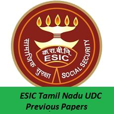 ESIC Tamil Nadu UDC Previous Papers