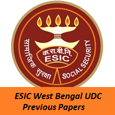 ESIC West Bengal UDC Previous Papers