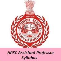 HPSC Assistant Professor Syllabus