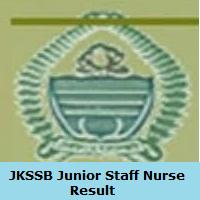 JKSSB Junior Staff Nurse Result