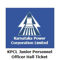 KPCL Junior Personnel Officer Hall Ticket