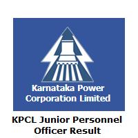 KPCL Junior Personnel Officer Result