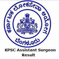 KPSC Assistant Surgeon Result