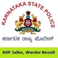KSP Jailor,Warder Result