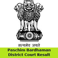 Paschim Bardhaman District Court Result