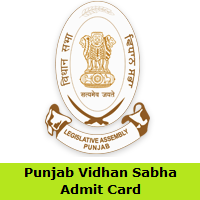 Punjab Vidhan Sabha Admit Card
