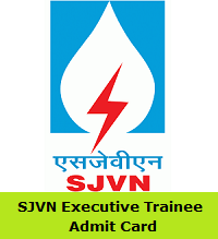 SJVN Executive Trainee Admit Card