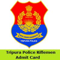 Tripura Police Riflemen Admit Card
