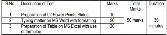 UDC Computer Skill Test Pattern