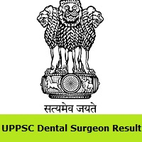 UPPSC Dental Surgeon Result