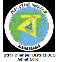 Uttar Dinajpur District DEO Admit Card