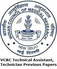 VCRC Technical Assistant, Technician Previous Papers