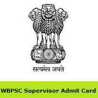 WBPSC Supervisor Admit Card