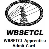 WBSETCL Apprentice Admit Card