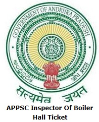 APPSC Inspector Of Boiler Hall Ticket