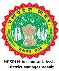 MPSRLM Accountant, Assistant District Manager Result