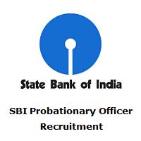 SBI Probationary Officer Recruitment