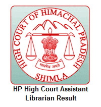 HP High Court Assistant Librarian Result