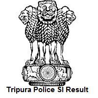 Tripura Police SI Result