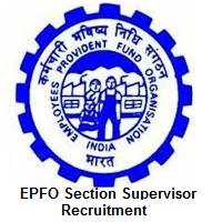 EPFO Section Supervisor Recruitment